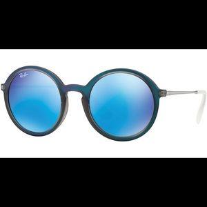 Ray ban blue mirrored sunglasses